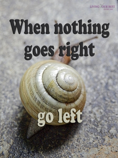 When nothing goes right go left!